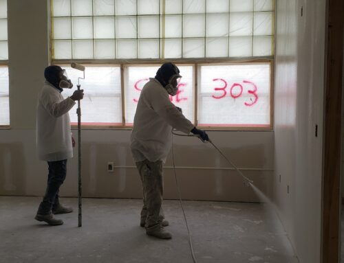 Mike's Painting & Sandblasting at the former Middle School
