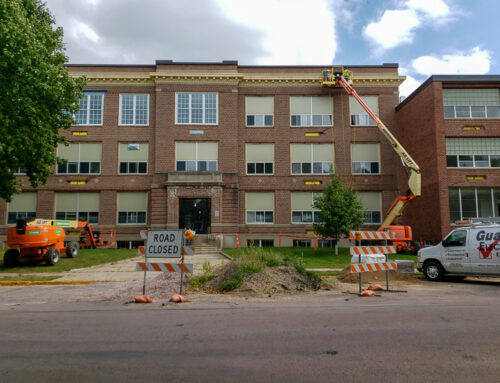 More Progress on the Former Middle School in New Ulm